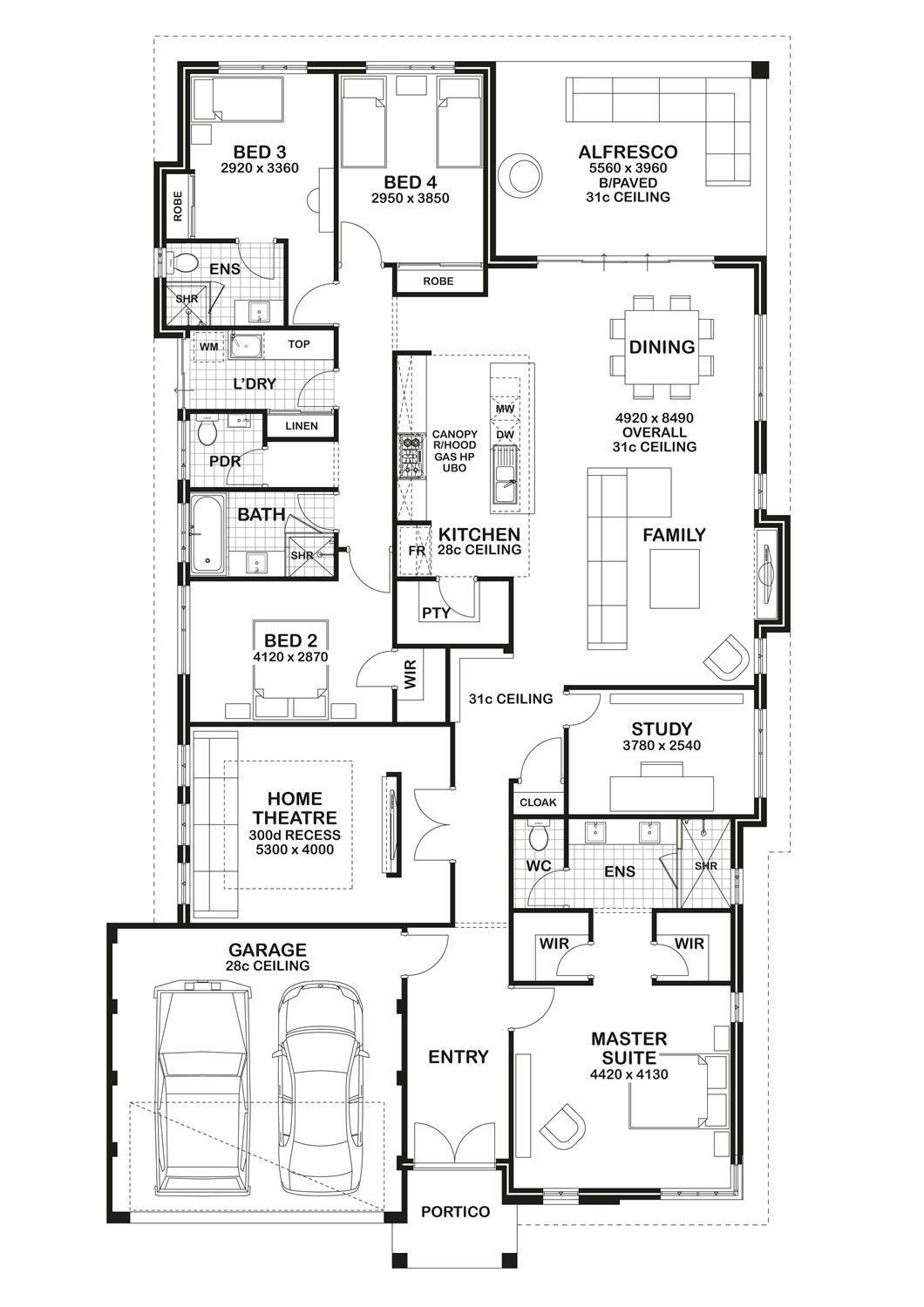 Floorplan Again Don T Need The Theatre Room So I Would