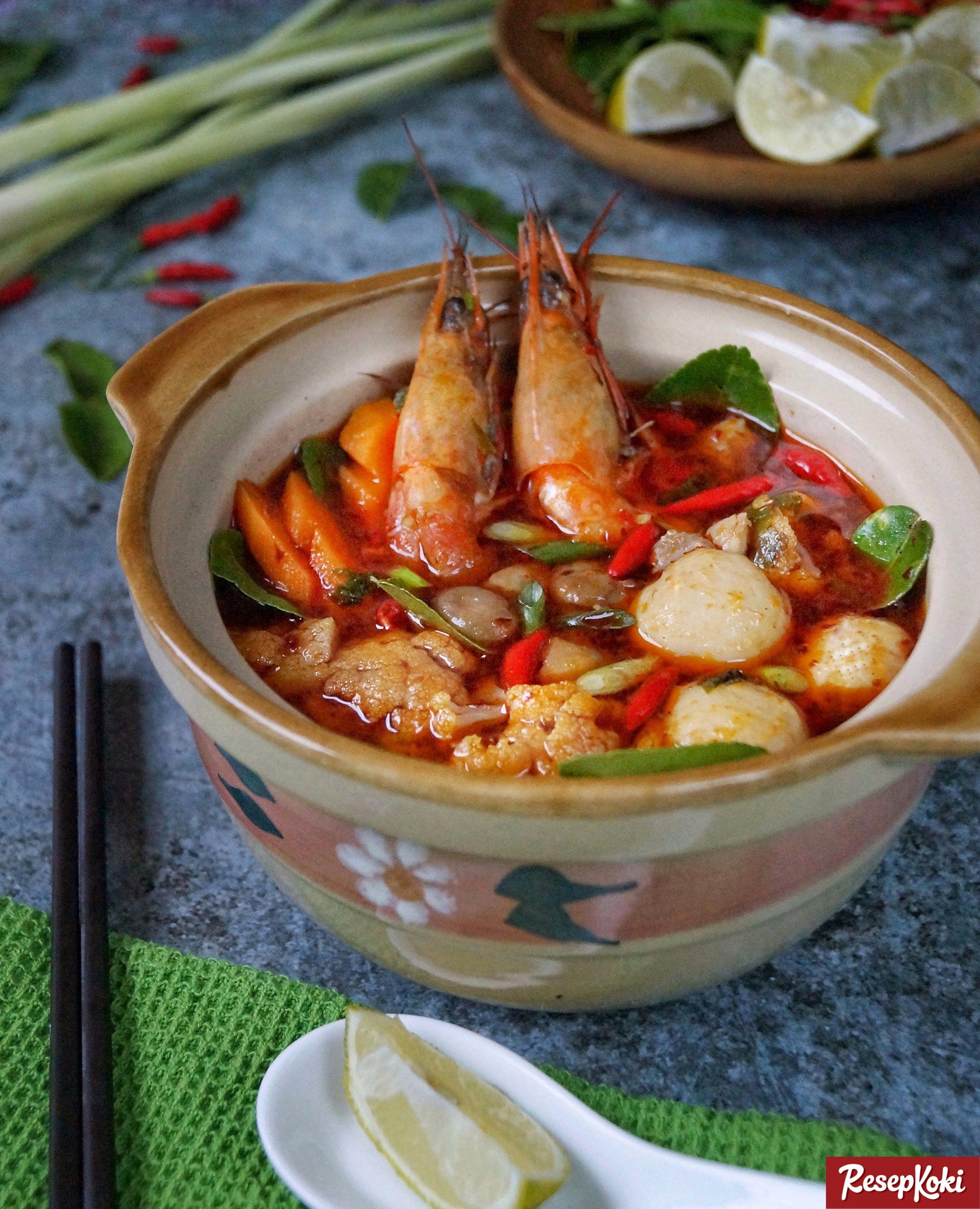 Tom Yam Seafood Lezat Asli Thailand Resep Resepkoki Resep Makanan Laut Masakan Resep Masakan