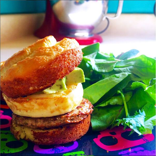 Low Carb Egg & Cheese English Muffin - You bake your own english muffin! I would make a large batch and freeze for faster prep.