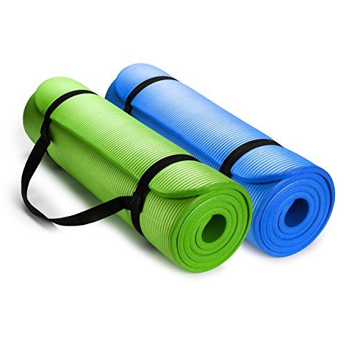 Hemingweigh 12inch Extra Thick High Density Exercise Yoga Mat With Carrying Strap 2 Pack Combo Click Image For Yoga Mats Best Yoga Mat Reviews Mat Exercises