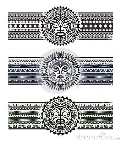 Aztec Sun In The Hood Tattoos Samoan Tattoo Arm Band Tattoo