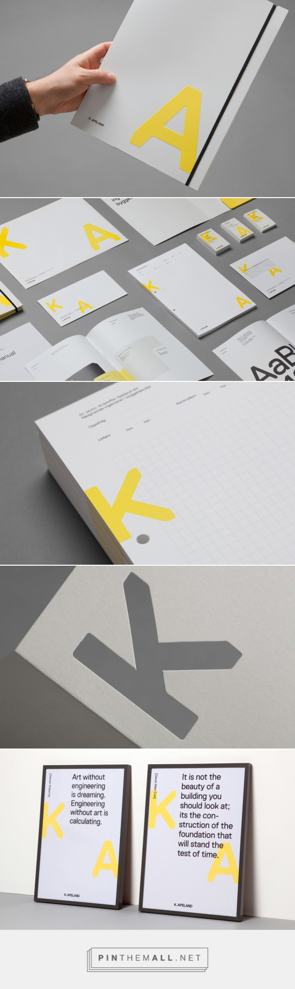 New Brand Identity for K. Apeland by Bielke&Yang... - a grouped images picture - Pin Them All