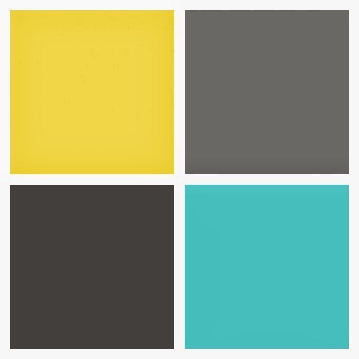 Turquoise and Yellow Color | Vermont Grey 8 Piece Comforter Bed In A Bag  Set,