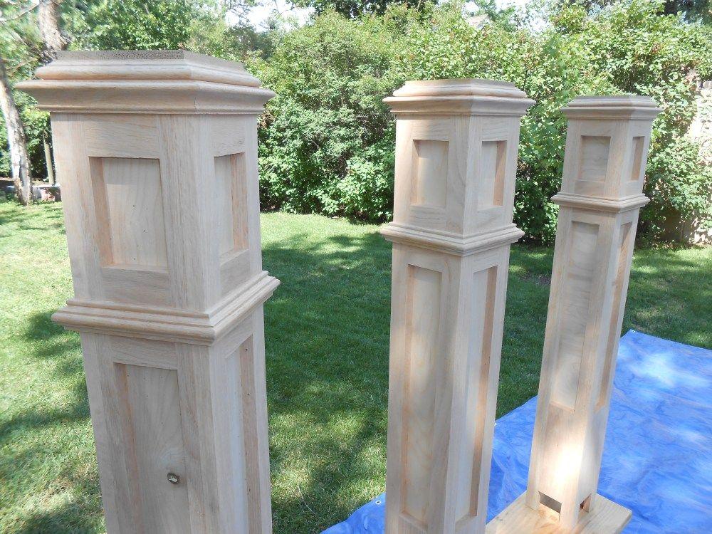 Building custom newel posts newel posts diy stair