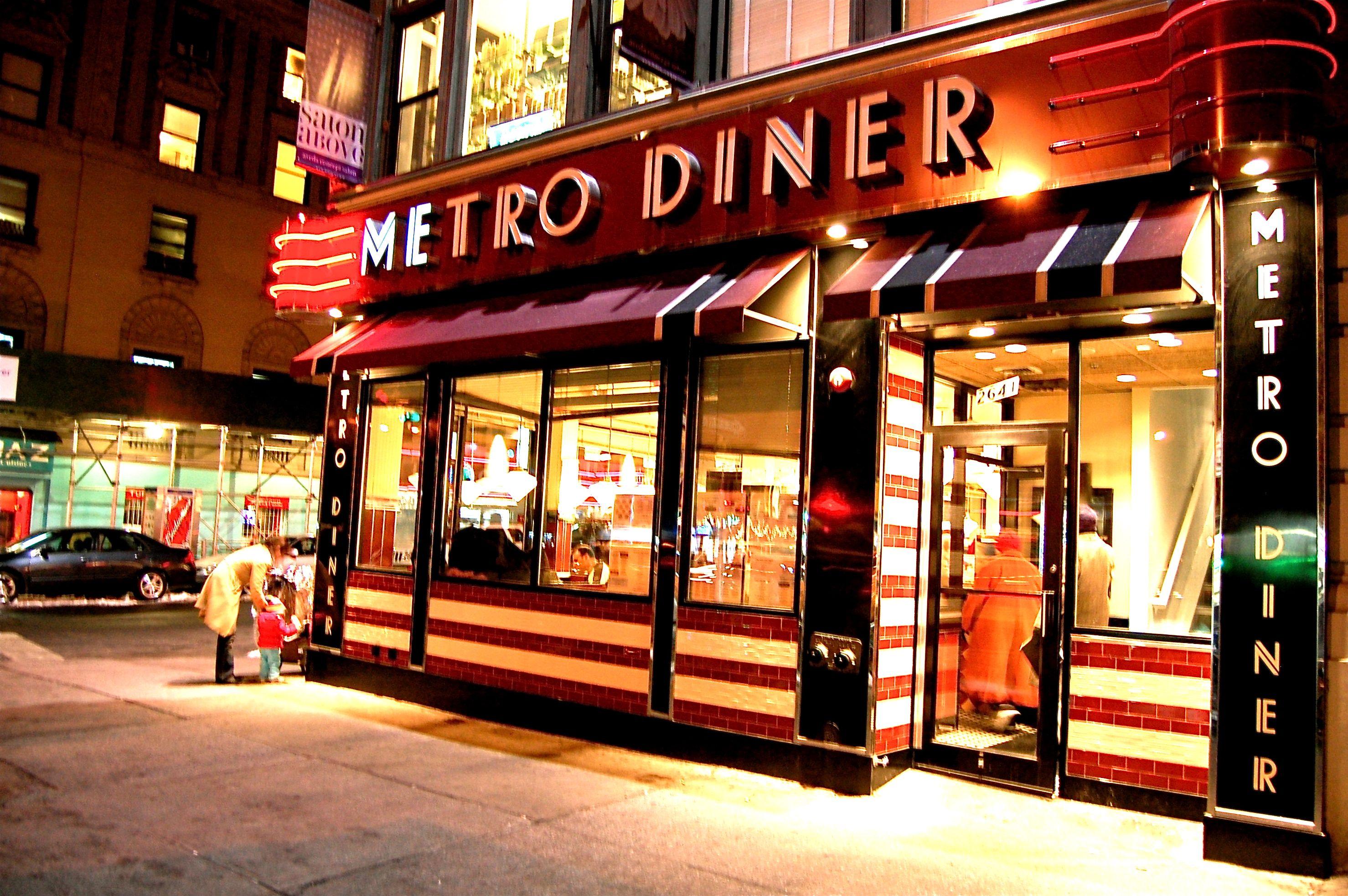 De Metro Diner in New York, waar ik samen met Helena elke dag ...