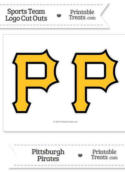 Medium Pittsburgh Pirates Logo Cut Outs From Printabletreats
