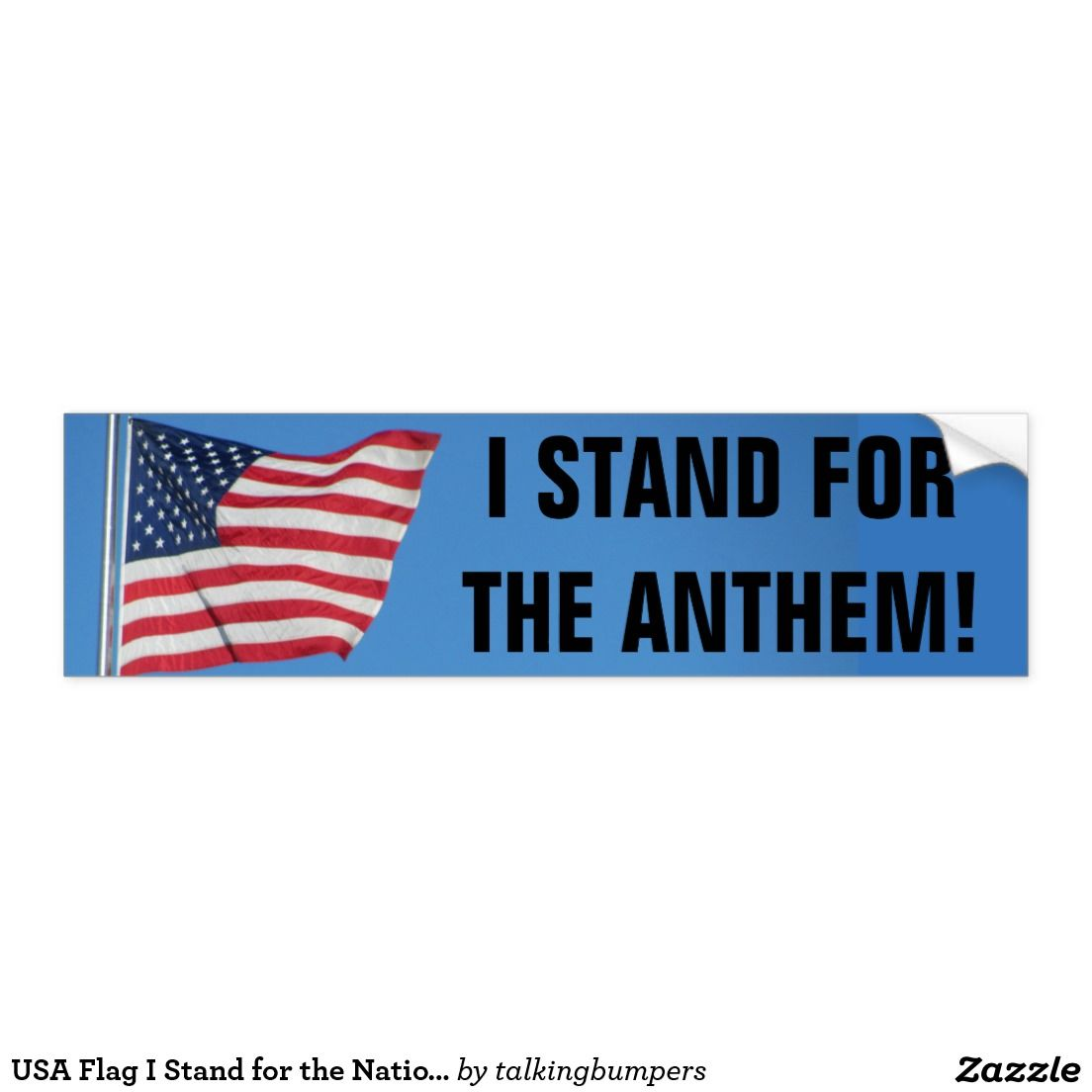 Usa flag i stand for the national anthem bumper sticker tell them usa flag i stand for the national anthem bumper sticker tell them were you stand biocorpaavc