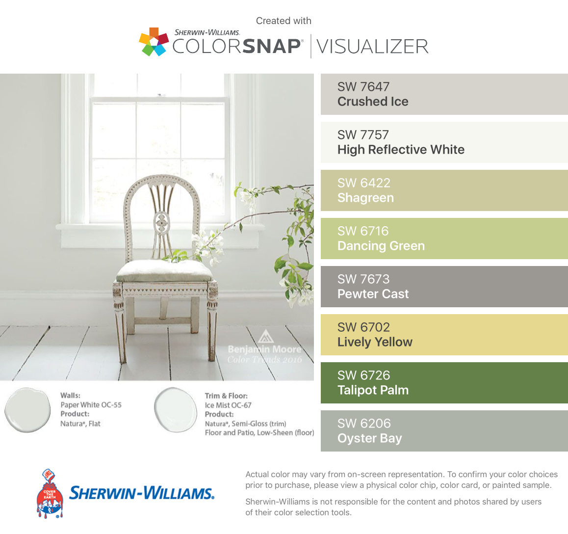 Sherwin-Williams Colormix 2017 collection Intrepid | 2018