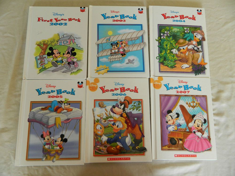 DISNEY'S YEAR BOOKS 20022007 LOT OF 6 HARD COVER