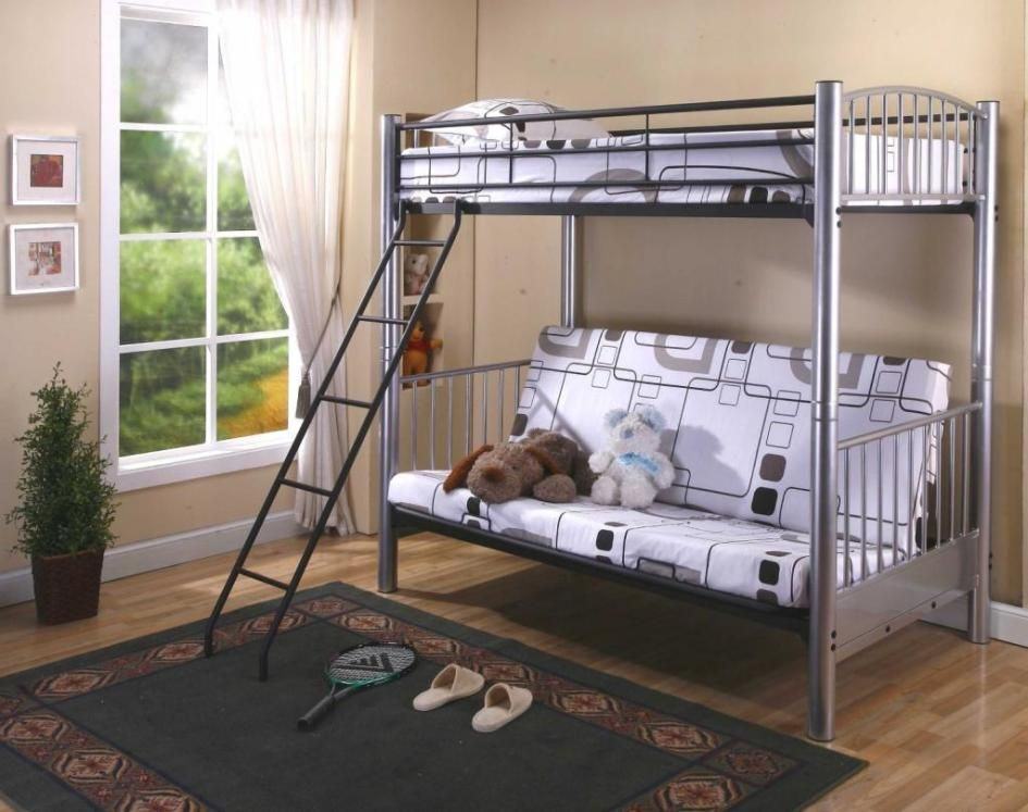 Best double decker bed design for elegant kids room interior cool kids bedroom design with metal double decker sofa bed decoration idea beside brown