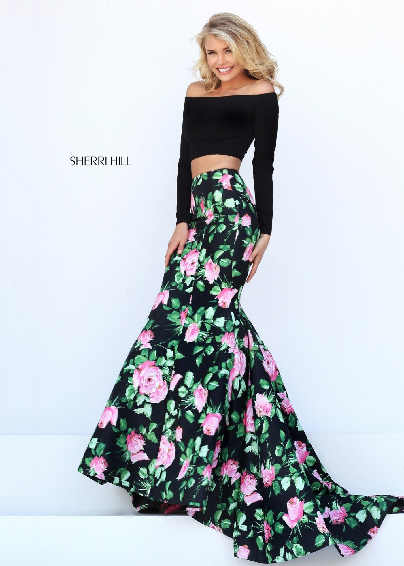Sherri hill 50423 blackpink sleek sexy 2 piece mermaid dress sherri hill 50423 blackpink sleek sexy 2 piece mermaid dress ombrellifo Images