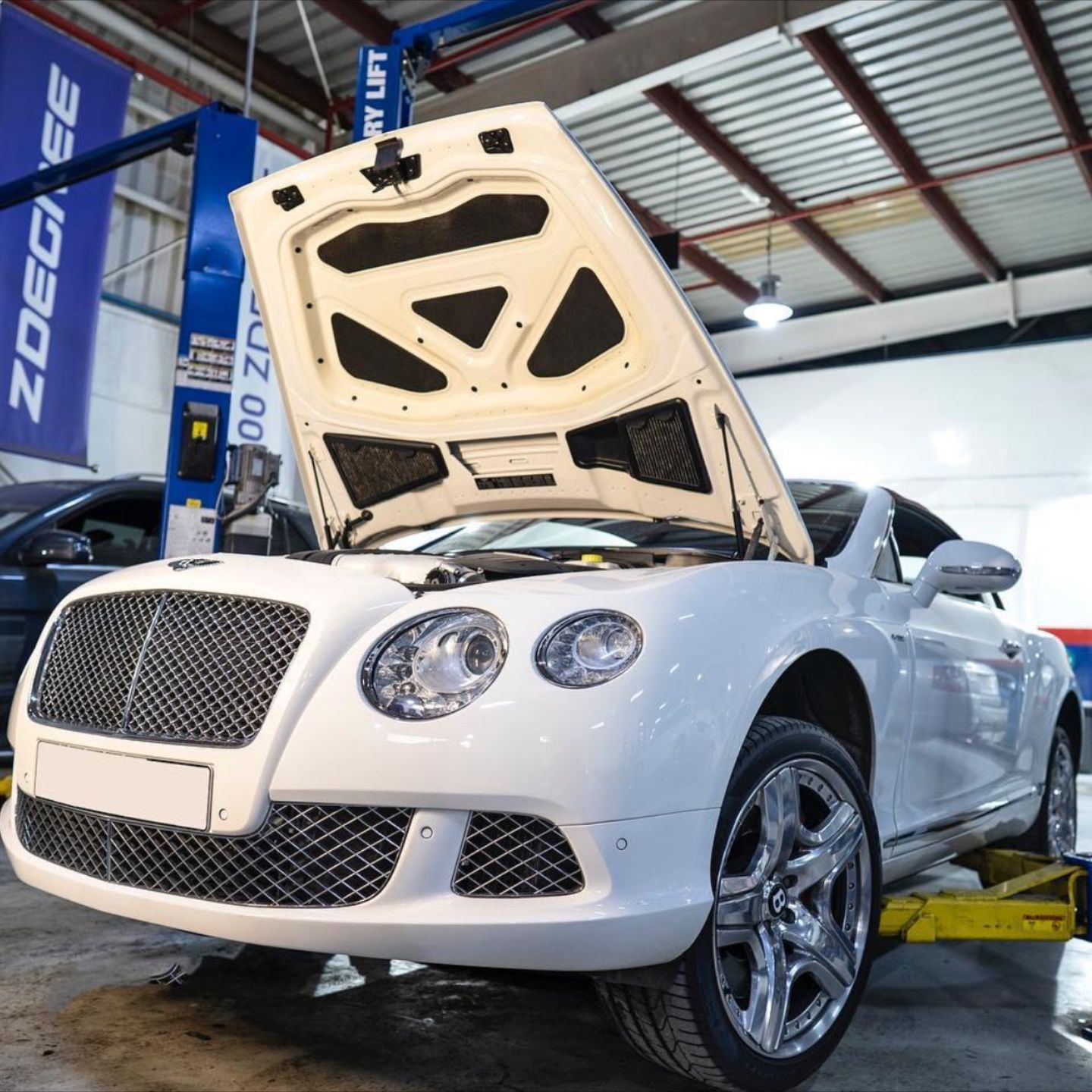 Bentley Continental In For An Oil Change Tyre Shop Buy Tires Bentley Continental