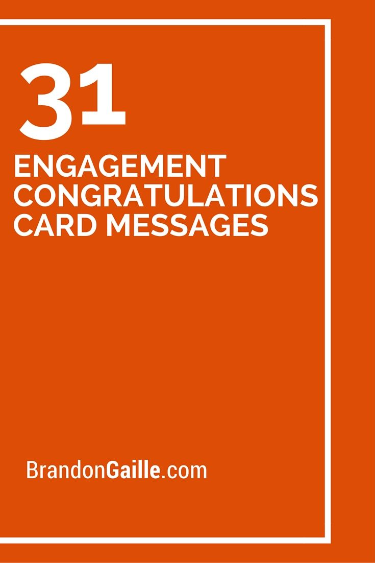 31 Engagement Congratulations Card Messages