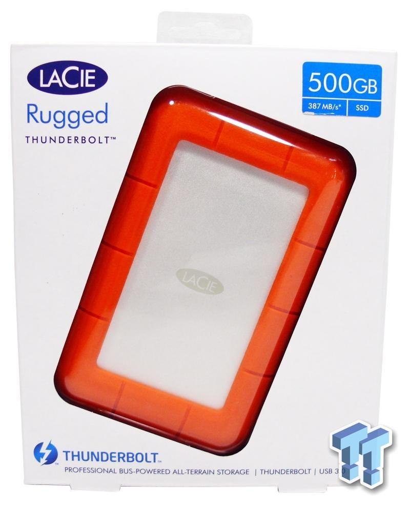 Lacie Rugged Usb 3 0 Thunderbolt 500gb External Storage Ssd Review External Storage Usb Ssd