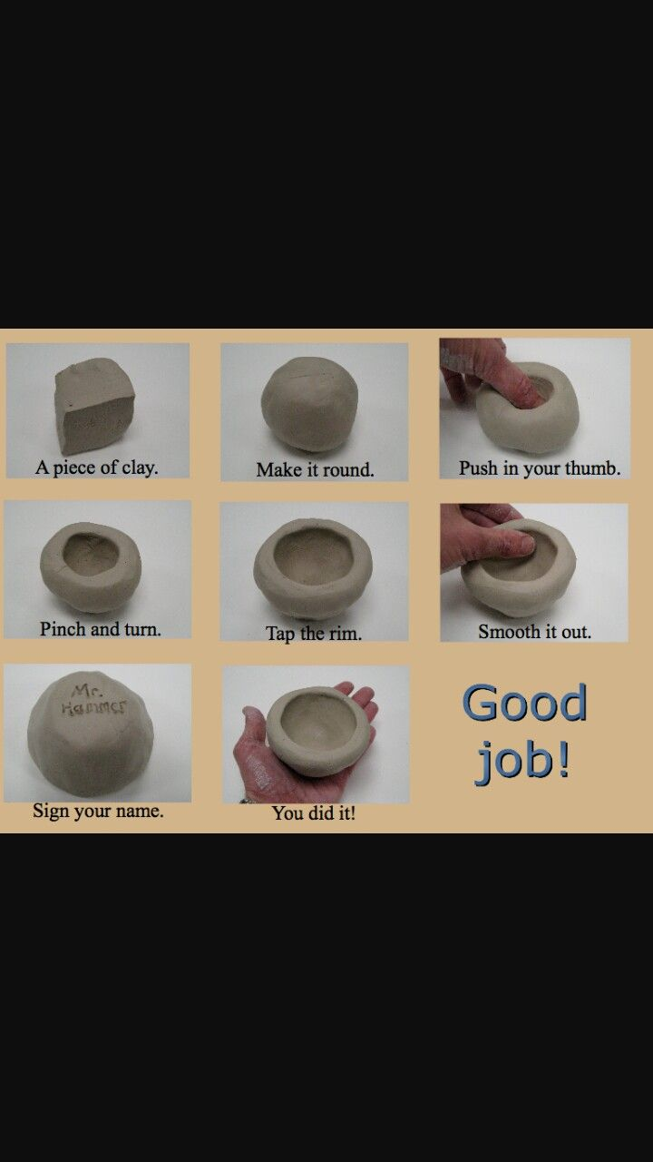 How To Make A Pinch Pot Ceramic Pinch Pots Clay Projects For Kids Clay Pinch Pots