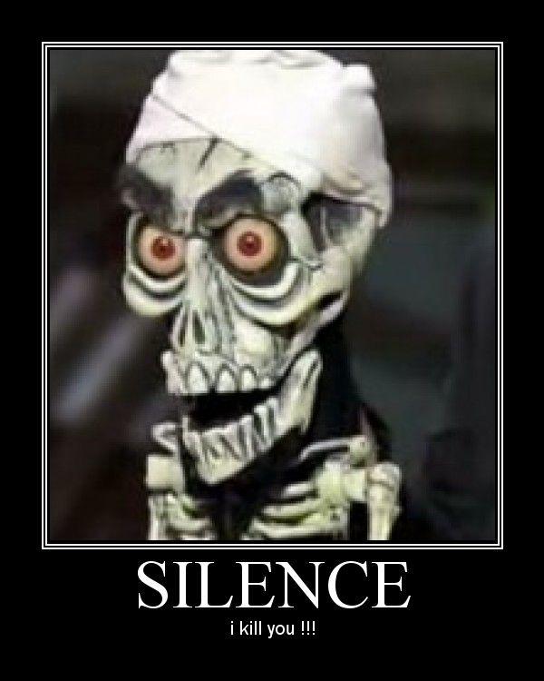 silence from jeff dunham i kill you �humor is