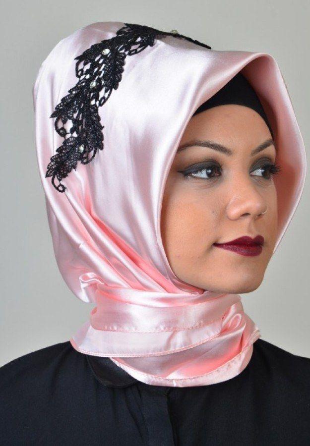 Photo of Aisha Hijab – Powder Star Ready Evening Dress Scarf (1)