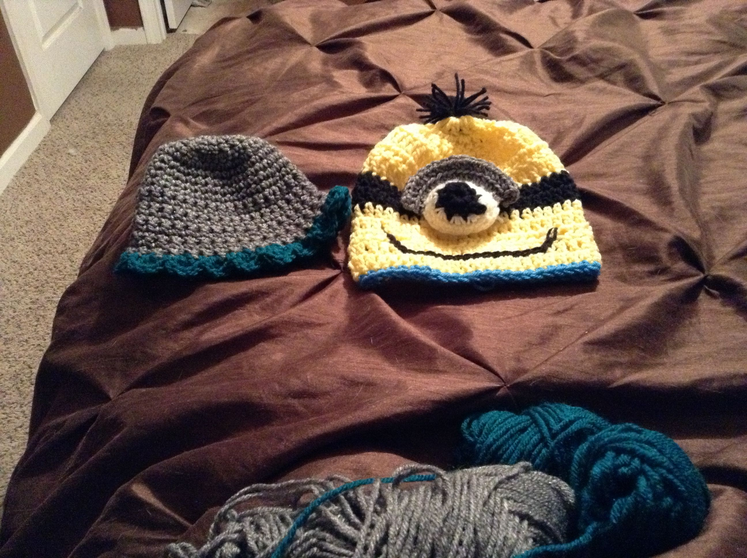 Ha to match poncho and skirt set for sale and minion hat for boys