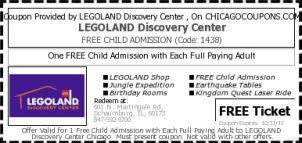 Free Child S Admission To Legoland Chicago W Adult Purchase
