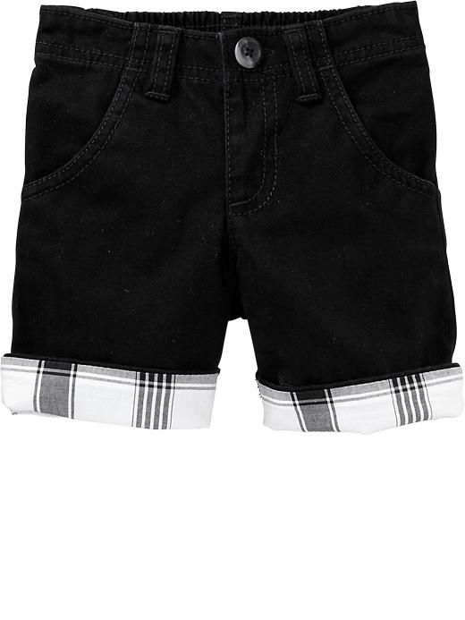 Rolled-Cuff Twill Shorts for Baby Product Image