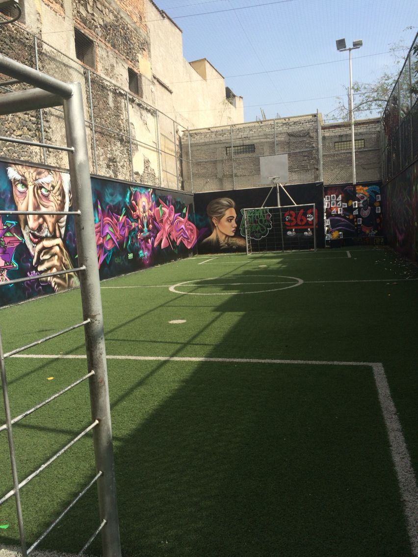 Mural In Downtown Mexcity Soccer Field Indoor Soccer Field Football Pitch Backyard Sports