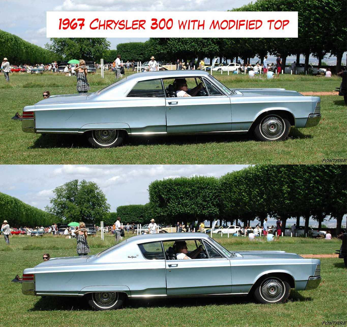 1967 Chrysler 300 With Modified Top. IMO, Looks Better