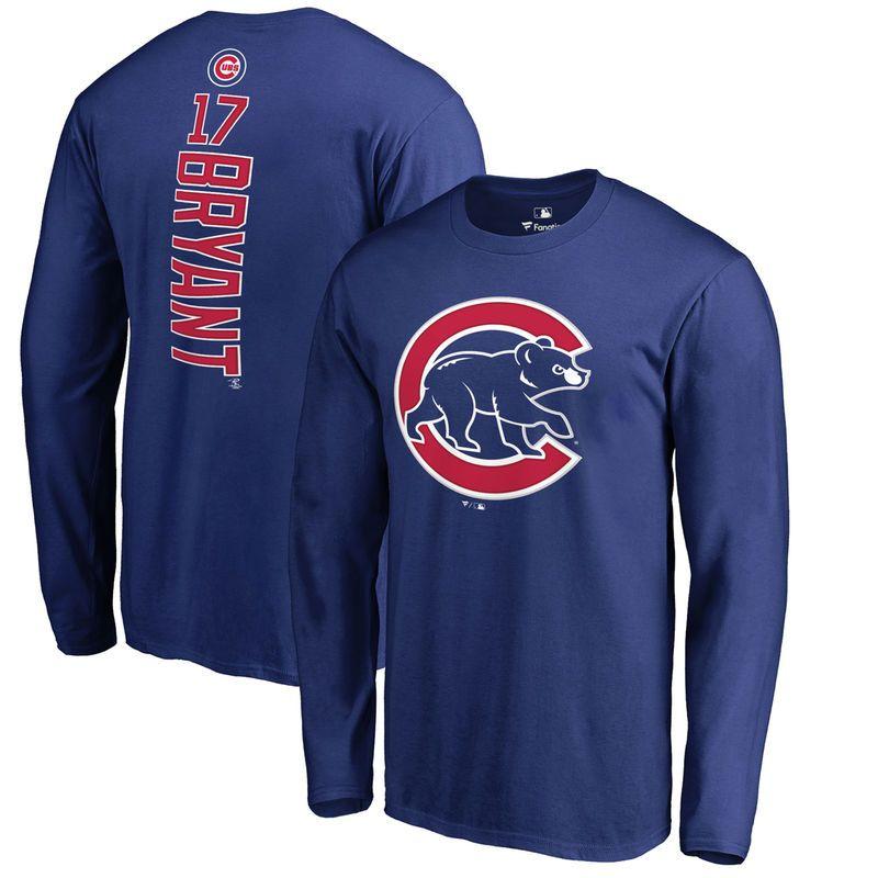 quality design 95977 54164 Kris Bryant Chicago Cubs Fanatics Branded Backer Long Sleeve ...
