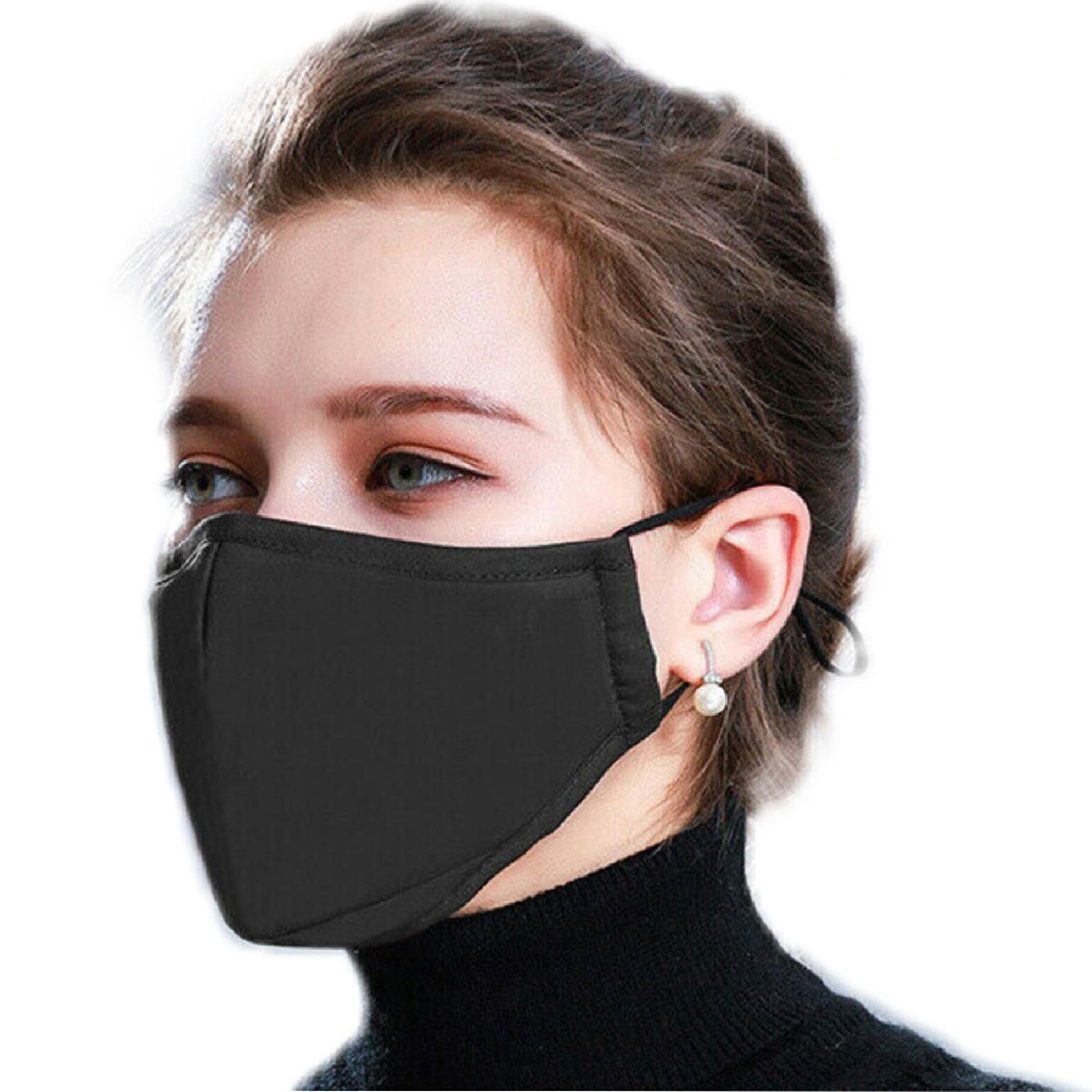 Homemade Face Mask With Filter Pocket, Adjustable Elastic Ear Loop With Nose Wire Reusable Washable
