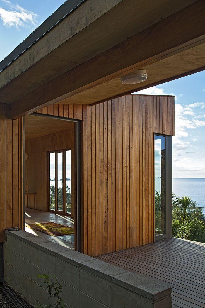 Modern Architecture New Zealand modern prefab new zealand beach house interior and deck space