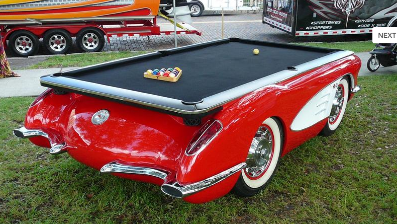 Corvette Pool Table Lets Just Hope They Didnt Take Apart An - How do you take apart a pool table