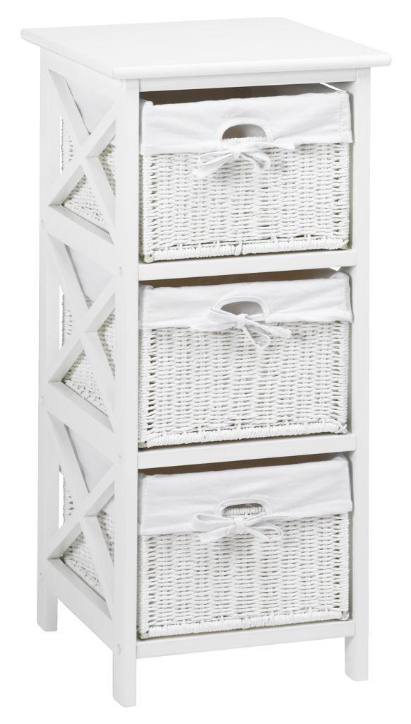 komoda maui 3 szuflbiaa jysk - Bathroom Cabinets Jysk