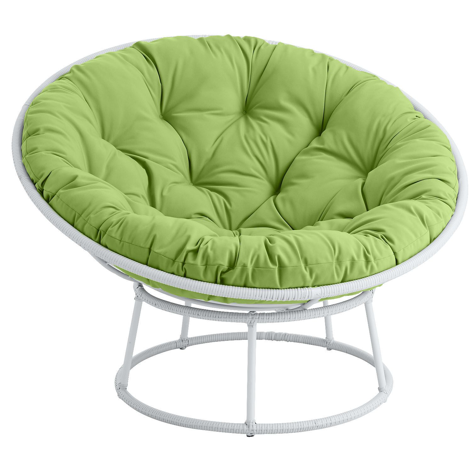 outdoor papasan chair nailhead upholstered dining white yard ideas