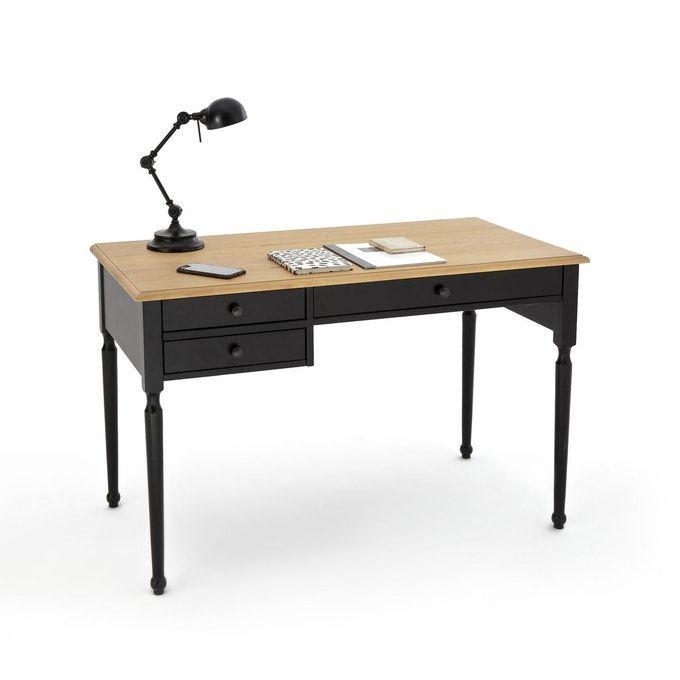 Bureau Pin Massif Authentic Style Bureau En Pin Rangement Tiroir Bureau Classique