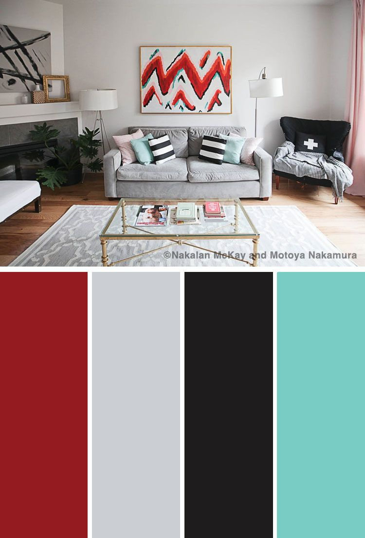 10 Vibrant Red Color Combinations And Photos Shutterfly Living Room Color Combination Color Palette Living Room Red Dining Room #red #and #gray #color #scheme #living #room