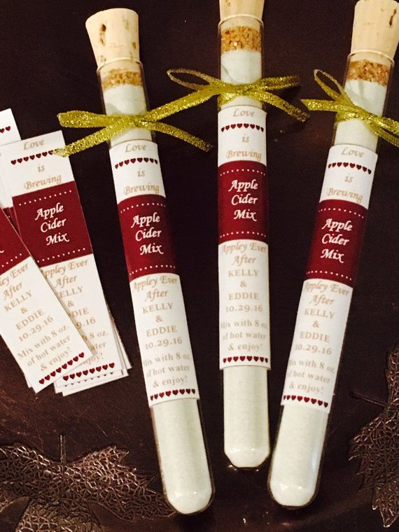 Apple cider Test Tube Wedding Favors Fall Wedding Favors | Wonderful ...