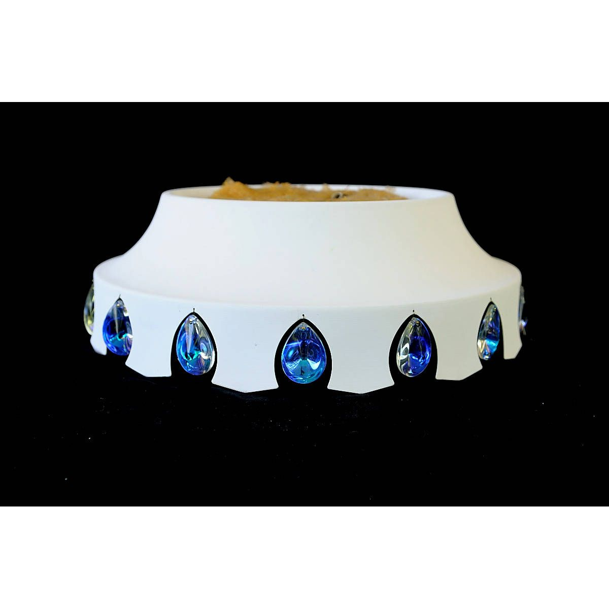 NOS MOE Light Fixture White Blue Glass Jewels Lancelot Ceiling Gold Mid Century Atomic Mad Men Lamp Light Chandelier Swag TheHeartTheHome by TheHeartTheHome on Etsy