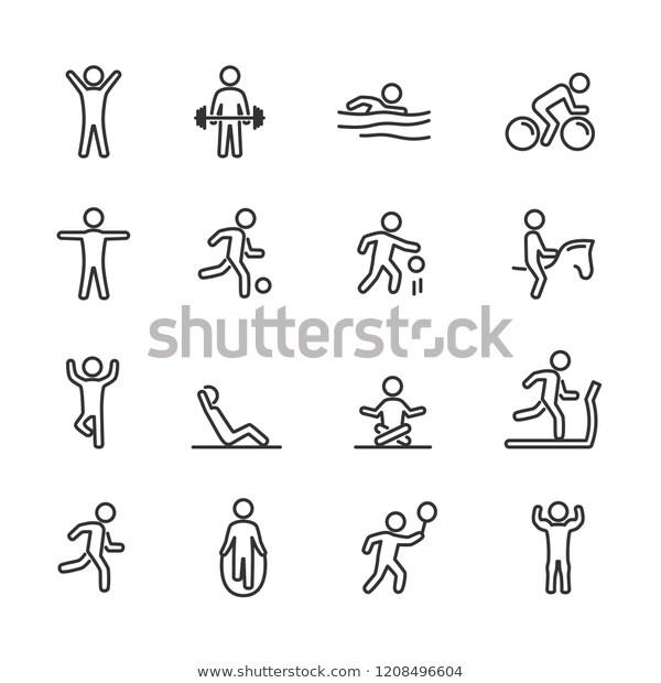 Vector de stock (libre de regalías) sobre Iconos de línea de