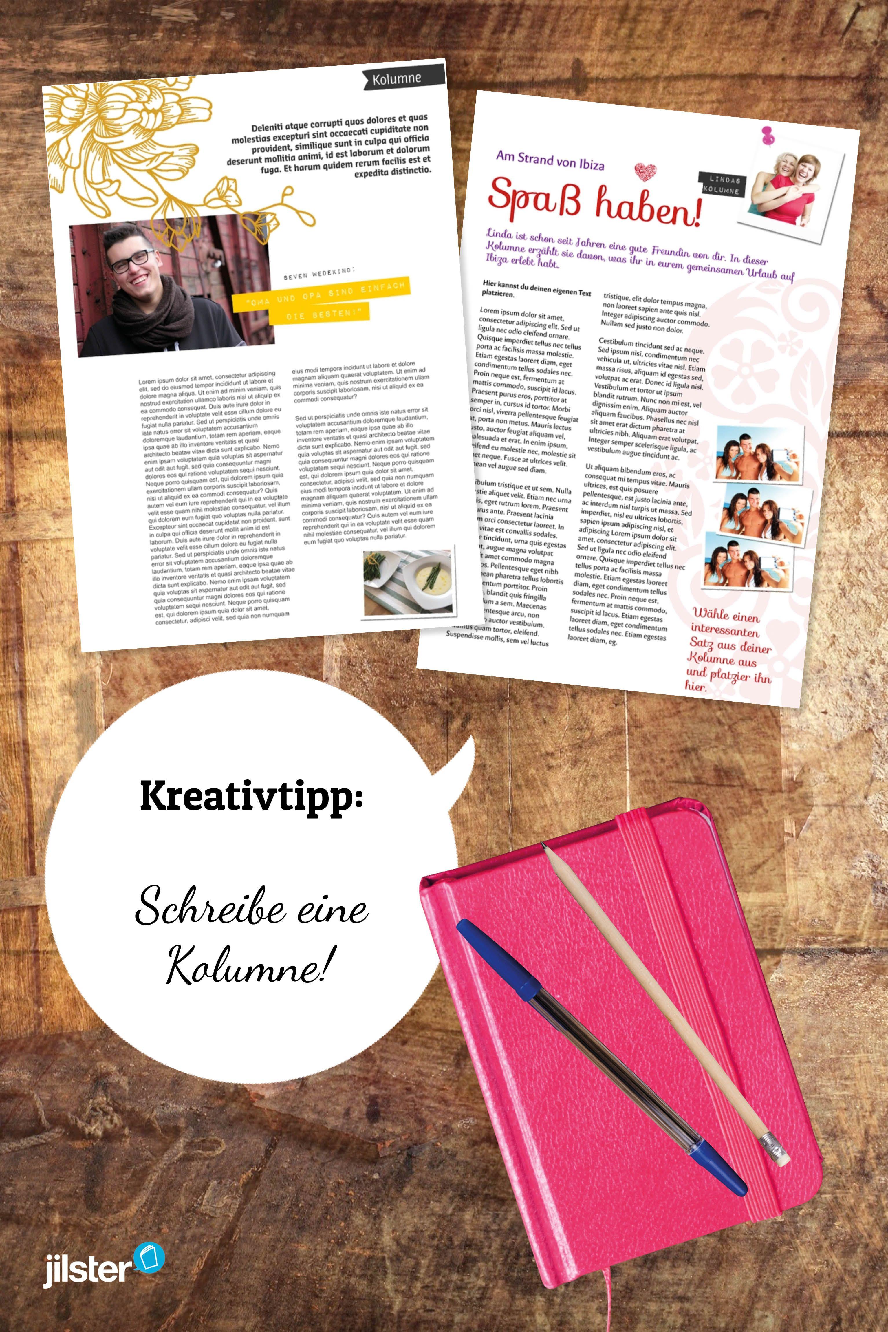 Kolumne Schreiben Textarten Zeitschrift Jilster Blog Zeitschriften Neuer Job Textarten