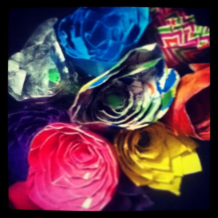 Duckduct tape flower bouquet i made duct tape flowers