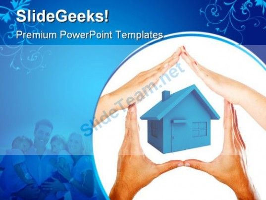 Hands Made House Family PowerPoint Templates And PowerPoint