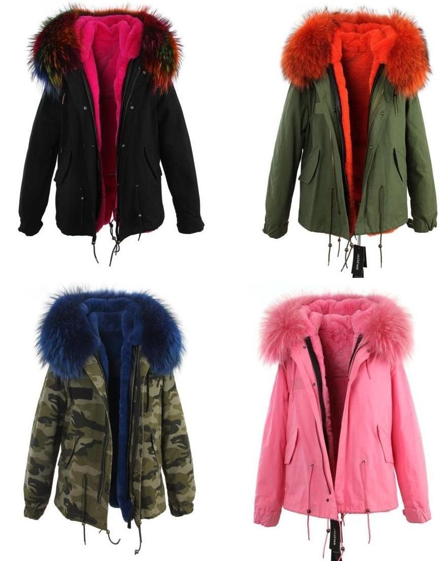 Kurtka Parka Kolorowe Futro Duzo Wzorow 38 Jenot 6510447648 Oficjalne Archiwum Allegro Winter Jackets Fashion Fur Coat