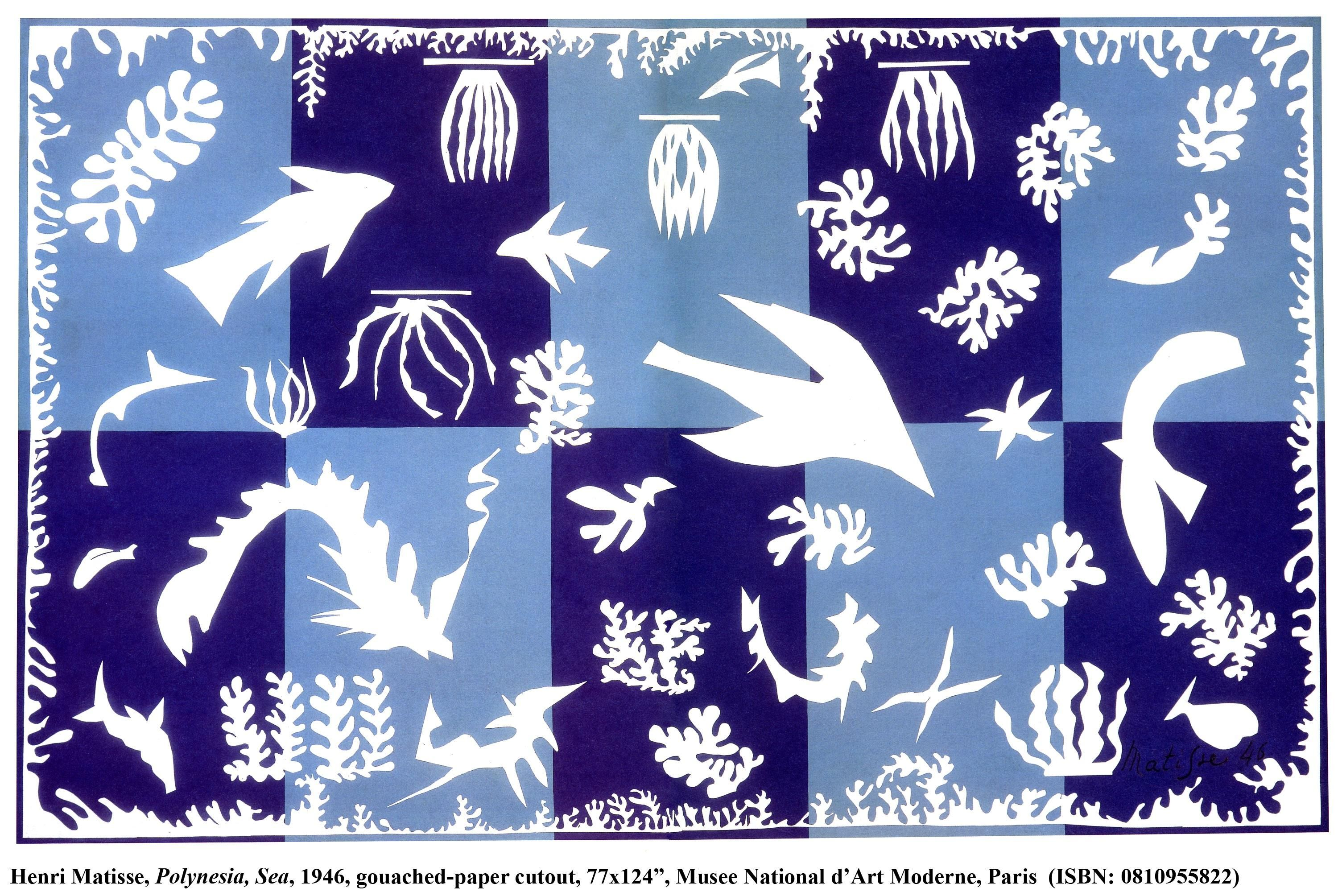 Henri Matisse Polynesia The Sea 1946 Recommended By Artist Ted