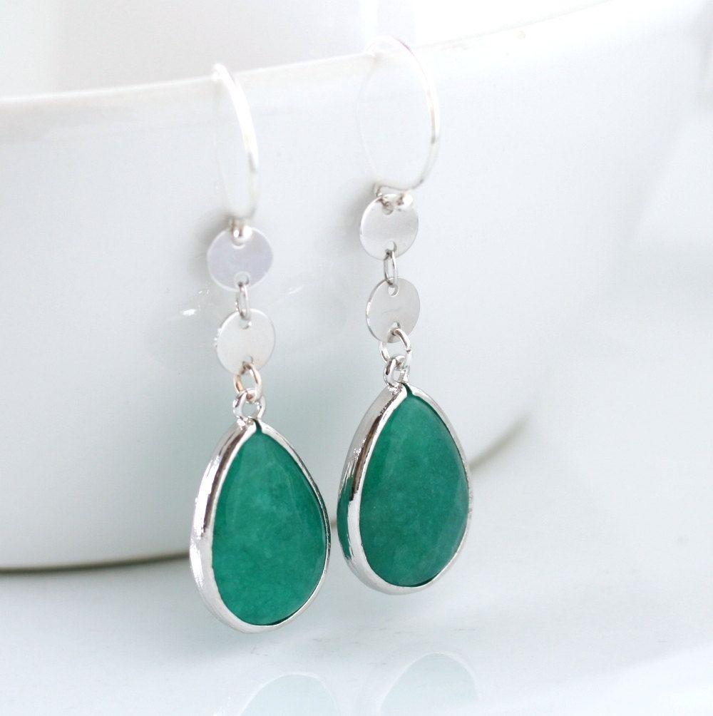 Ultramarine Green Green Earrings Emerald Green by SimplySleek, $25.00