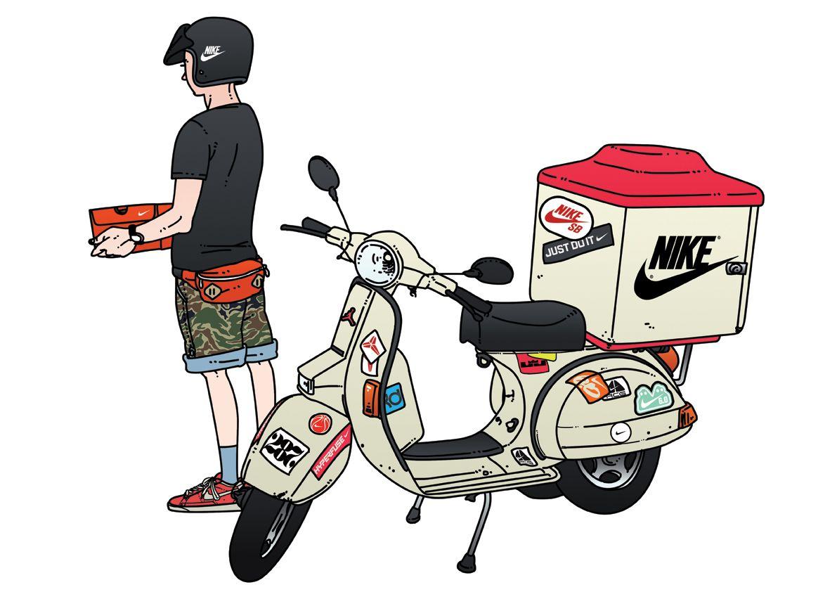 lo hizo Rancio vértice  Jungyoun Kim (NIKE delivery man) | Nike art, Character illustration,  Character design