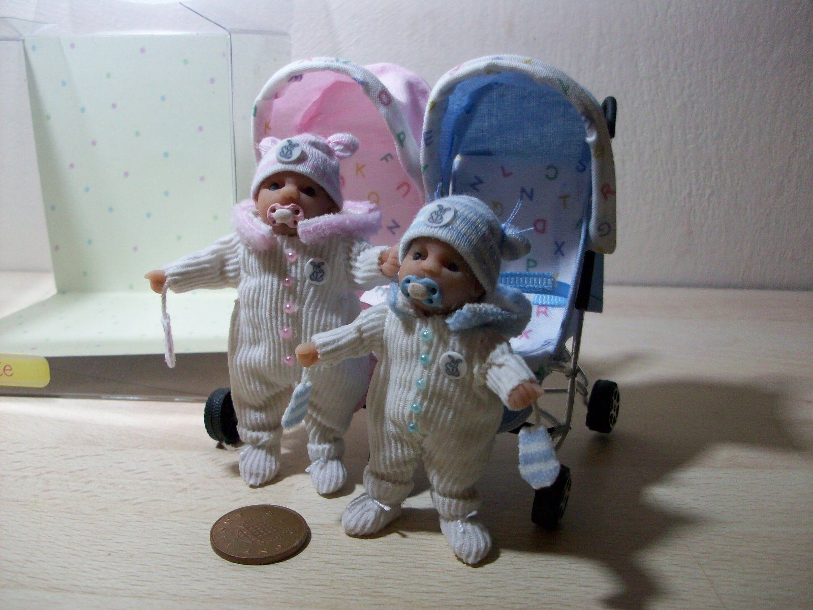 Dolls House Ooak Sculpt Baby Brother And Sister Double