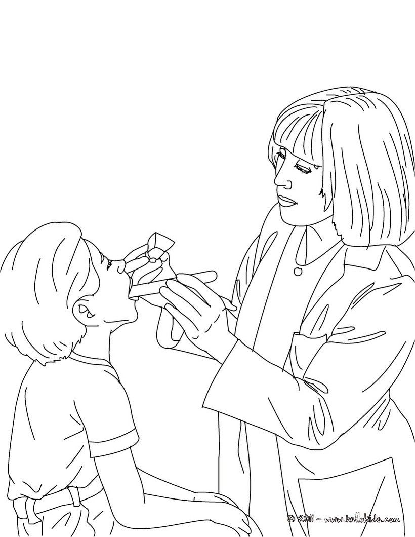 Paediatrician Doctor Coloring Page Amazing Way For Kids To