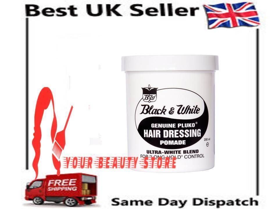 Genuine Pluko Hair Dressing Pomade By Black And White 200ml
