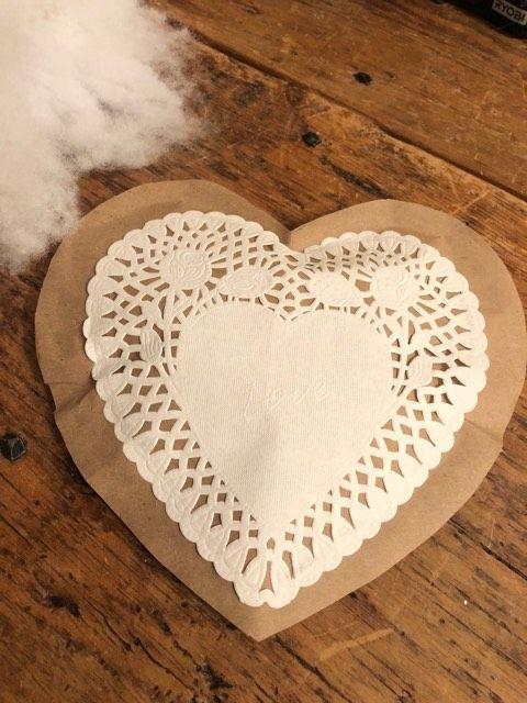 DIY Paper Hearts - The Shabby Tree