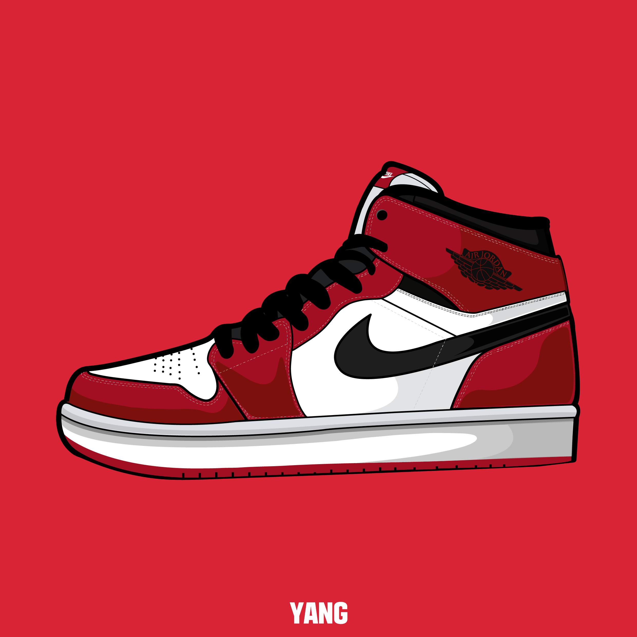 5833fd51ce2 drawing, shoes, sneakers, nike, air, jordan, carmine,graphic, design,  illustrator, illustration, picture,파인아트,일러스트레이션,일러스트,패션,드로잉,그림, ...