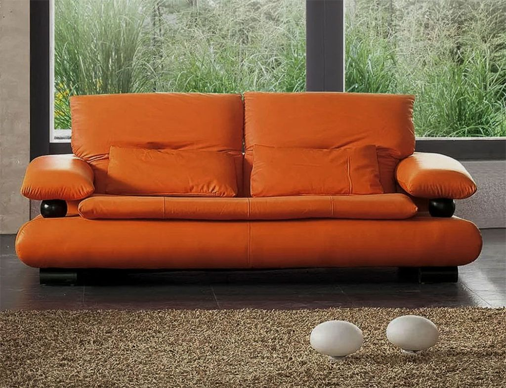 Unique Sofas With Wow Factor Orange Leather Sofas Leather Sofa